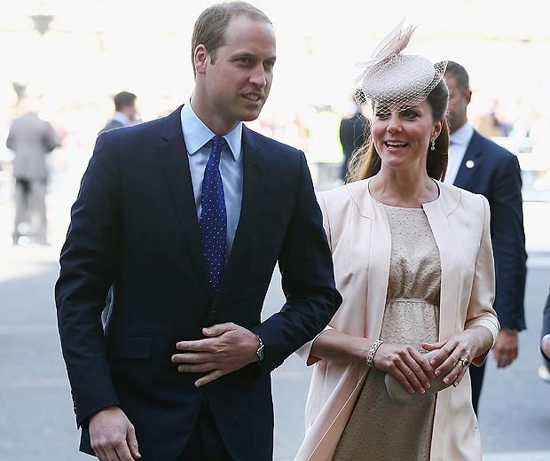PRÍNCIPE WILLIAM E A PRINCESA KATE DURANTE AS CELEBRAÇÕES DO 60º ANIVERSÁRIO DA COROAÇÃO DA RAINHA ELIZABETH II (Foto: Getty Images)